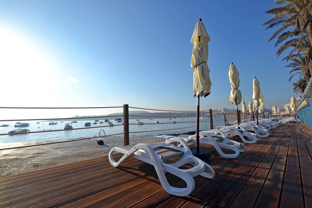 New decking by the beach